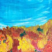 Fiery Fall In The Hills Art Print