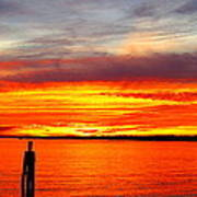 Fiery Fall Sunset Art Print