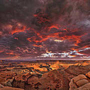 Fiery Sunrise Over Dead Horse Point State Park Art Print