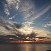 Fiery Sunset Skys Art Print