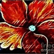 Fiery Violet Expressive Brushstrokes Art Print
