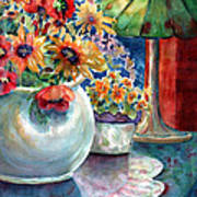 Fiesta Blooms Art Print by Ann  Nicholson