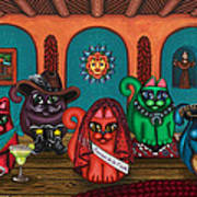 Fiesta Cats II Art Print