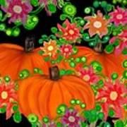 Fiesta Pumpkins Art Print
