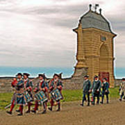 Fife And Drum Parade In Louisbourg Living History Museum-1744-ns Art Print