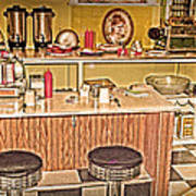 Fifty's Lunch Counter  Nostalgic Art Print