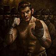 Fight Art Print by Mark Zelmer