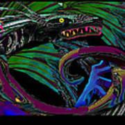 Fight The Dragon Art Print