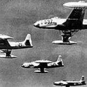 Fighter Jet Against Communists Art Print
