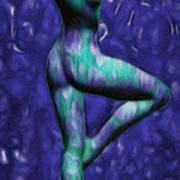 Figure Study #03 - 'spin Blue'  Art Print