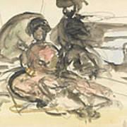 Figure Study Two Women Seated Art Print