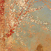 Figure Under A Blossoming Tree Art Print