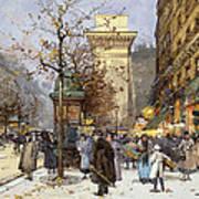 Figures On Le Boulevard St. Denis At Twilight Art Print