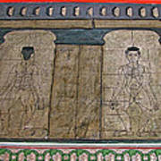 Figures Used To Teach Thai Massage In Wat Po In Bangkok-thailand Art Print