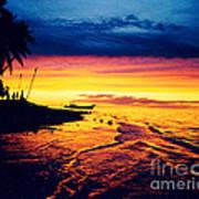 Fiji Paradise Sunset Art Print
