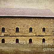 Filley Stone Barn South Side Art Print