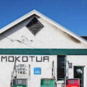 Filling Station, Mokotua, The Catlins Art Print