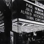 Film Homage Alfred Hitchcock Torn Curtain 1966 Orpheum Theater St. Paul Minnesota 1966 Art Print