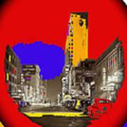 Film Homage Arthur Rothstein Theater Row  Majestic Melba  Palace Theaters Dallas Texas 1942-2008 Art Print