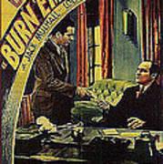 Film Homage Burn 'em Up Barns Mascot Serial 1934 Chapter 5 Lobby Card Color Added 2008 Art Print