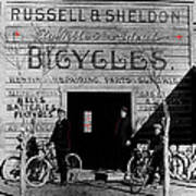 Film Homage Butch Cassidy 1969 Russell And Sheldon Bicycles C.1895 Tucson Arizona 2008 Art Print