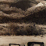 Film Homage End Of The Road 1970 Bisected Car Ghost Town Dos Cabezos Arizona 1967-2008 Art Print