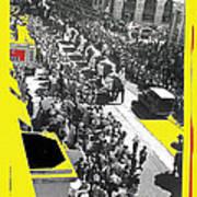 Film Homage Fox Tucson Theater Marquee Cole Bros. Circus Elephant Parade 1936-2008 Art Print