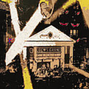 Film Homage Gone With The Wind Premiere Collage Loew's Grand Atlanta Georgia 1939-2008 Art Print