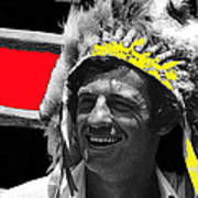 Film Homage Jean-paul Belmondo  Fake Indian Bonnet Love Is A Funny Thing  Old Tucson Az 1969-2008 Art Print