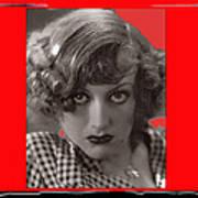 Film Homage Joan Crawford Louis Milestone Rain 1932 Collage Color Added 2010 Art Print