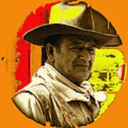 Film Homage John Wayne Andy Warhol Inspired Rio Lobo Variation 1 Old Tucson Arizona 1970-2009 Art Print