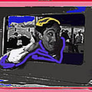 Film Homage Julian Rivero Burn 'em Up Barns 1934 Mascot Serial Collage Screen Capture 2008 Art Print