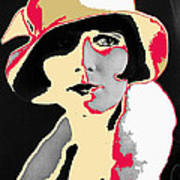 Film Homage Louise Brooks In Flapper Hat 1927-2013 Art Print