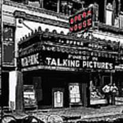 Film Homage Opera House Tucson Arizona Circa 1929-2012 Art Print
