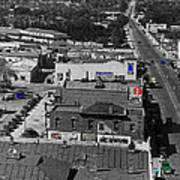 Film Homage Ted Degrazia Cine Plaza Theater  Blue W. Congress Tucson Arizona 1936-2008 Art Print