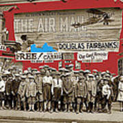 Film Homage The Air Mail  Leader Theater Washington D.c. 1925-2010 Art Print