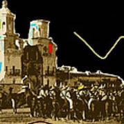 Film Homage The Gay Desperado Set San Xavier Mission Tucson Arizona 1936-2008 Art Print
