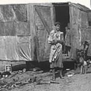 Film Homage The Grapes Of Wrath 1 1940 Family In Shack Perhaps Eloy Arizona 1940-2008 Art Print