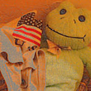 Film Homage The Muppet Movie 1979 Number 1 Froggie Colored Pencil American Flag Casa Grande Az 2004 Art Print
