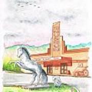 Film Museum In Lone Pine, California Art Print