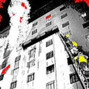 Film Noir Act Of Violence 1949 Pioneer Hotel Fire 1970 Jack Schaeffer Photo Color Added 2012 Art Print