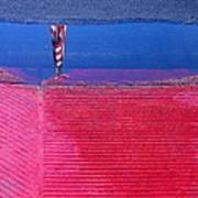 Film Noir  Angela Lansbury The Manchurian Candidate 1962 Flag Water Reflection Casa Grande Az 2005 Art Print