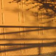 Film Noir Caught 2 1949 Shadow On Garage Door Casa Grande Arizona. 2004 Art Print