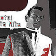 Film Noir David Janssen The Fugitive Santa Rita Hotel Front Xmas Tucson 1963 Color Added 2009 Art Print