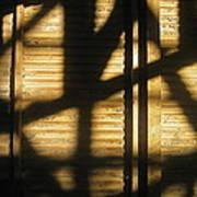 Film Noir Dick Powell Edward Dmytryk Cornered 1945 Building Interior Shadows Coolidge Arizona  2004 Art Print