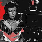 Film Noir Director Ida Lupino Color Added 2012 Art Print