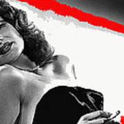 Film Noir Jean Louis Rita Hayworth Gilda 1946 Color Added 2012 Art Print