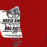 Film Noir Jim Thompson The Grifters 1990 1 Horse Dog Tracks Sign Juarez 1977 Art Print