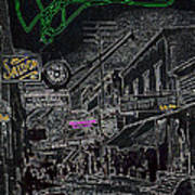 Film Noir Lee Marvin Sylvia Sidney Violent Saturday 1956  C.1885 Bisbee Az Drawing Color Added 2008 Art Print