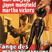 Film Noir Poster  The Burglar Jane Mansfield Art Print